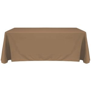6' Blank Solid Color Polyester Table Throw - Cafe