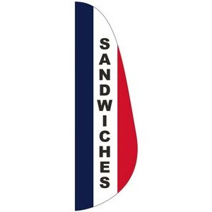 """SANDWICHES"" Message Feather Flag"