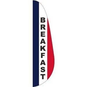 """BREAKFAST"" 3' x 12' Message Feather Flag"