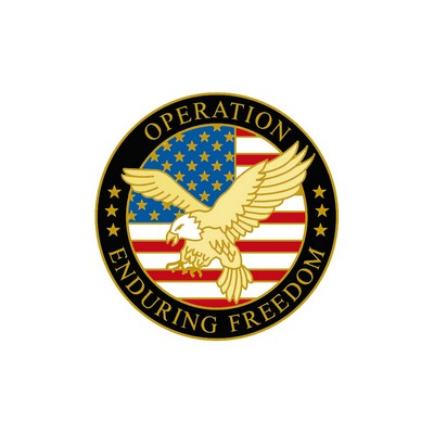 "United States Enduring Freedom Pin (1"" Diameter)"