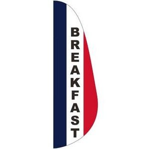 """BREAKFAST"" 3' x 10' Message Feather Flag"