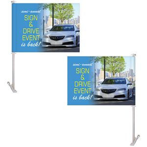 11.5 x 15 Double Sided Digitally Printed Custom Car Flag