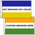 Custom 3' x 5' Custom Message Flags