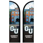 Custom 8' Double Sided Custom Portable Half Drop Banners