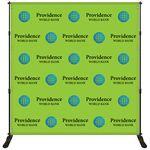 Custom 8' x 8' Premium Backdrop Banner Kit