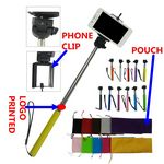 Custom Extendable Camera Video Selfie Holder,Mobile Phone Holder, Selfie Stick