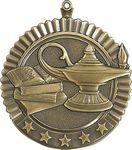 Custom 2.75 Star Lamp Of Knowledge Medal