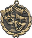 Custom 1.75 Sculptured Drama Medal