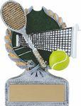 Custom 5 Vintage Wreath Tennis Trophy