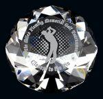 Custom Optic Crystal Diamond Paperweight Award