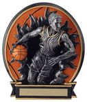 Custom 5.25 Blow Out Basketball Male Trophy