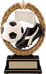 Custom 6.5 Negative Space Soccer Trophy