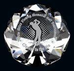 Custom Optic Crystal Diamond Paperweight (1.75x2.5)