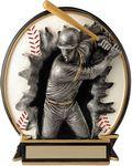 Custom 5.25 Blow Out Baseball Male Trophy