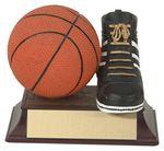 Custom 4 Basketball And Shoe Trophy