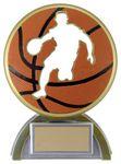 Custom 4 5/8 Silhouette Basketball Resin Award