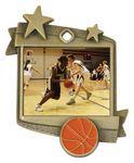 Custom 1.75x2.25 Starburst Basketball Medal