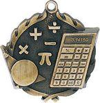 Custom 1.75 Sculptured Math Medal