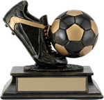 Custom 4 Aztec Gold Ball & Shoe Trophy