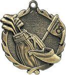 Custom 1.75 Sculptured Golf Medal