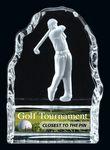 Custom Male Golf Glass Iceberg Award (4.25 H)