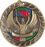 Custom 2.5 Knowledge Stained Glass Victory Medal