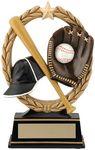 Custom 6.5 Negative Space Baseball Trophy