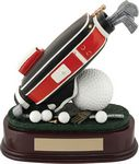 Custom 7 Golf Bag & Ball Trophy