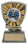Custom 4.75 Starburst 2 Disc Holder Basketball Award
