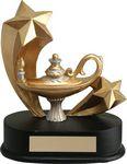 Custom 4.25 Shooting Star Lamp Of Knowledge Trophy