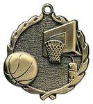 Custom 2.5 Sculptured Basketball Medal Award