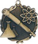 Custom 1.75 Sculptured Science Medal