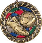 Custom 2.5 Soccer Stained Glass Soccer Medal