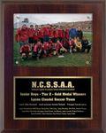 Custom 8x10 Cherrywood Soccer Surface Mount Photo Plaque
