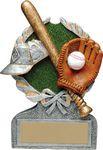 Custom 5 Vintage Wreath Baseball Trophy