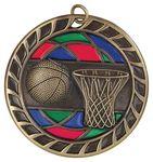 Custom 2.5 Stained Glass Basketball Medal Award