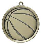 Custom 2.25 Mega Basketball Medal
