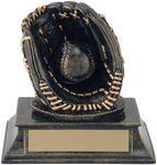 Custom 4 Aztec Gold Glove & Ball Trophy