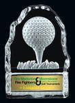 Custom Golf Tee Glass Iceberg Award (4.25 H)