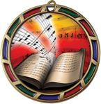 Custom 2.5 Music Stained Glass 2 Holder Medal