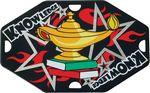 Custom 1 5/8x2.5 Street Tag Lamp Of Knowledge Medal