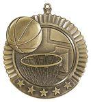 Custom 2.75 Star Basketball Medal Award