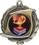 Custom 1.75 Sculptured Scroll Medal