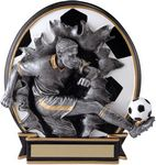 Custom 5.25 Blow Out Soccer Male Trophy