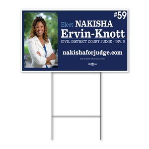 "Yard Sign 18'' x 24"" - Double-Sided"