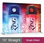 Custom Straight - Single sided Fabric Tube 10'