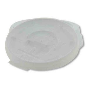 Cup Ads™ - 8 Oz. White Tear Back Lid