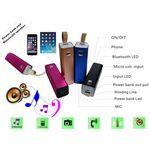 Custom 5 in 1 Power Bank w/Bluetooth Speaker