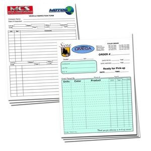 "2-Parts Stock Carbonless Forms - 20# NCR (Full Color) (8 1/2""x11"")"