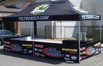 Custom 10x20 Vendor Tent - 1 Color Imprint / INCLUDES HEAVY DUTY ROLL BAG